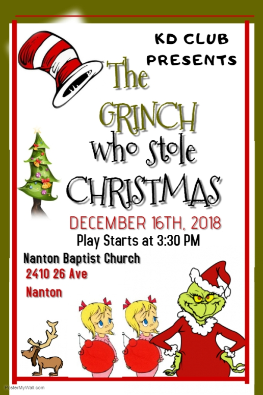 KD Club presents The Grinch Who Stole Christmas - Made with PosterMyWall (1)